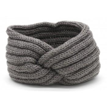 knitted headband grey