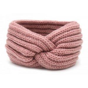 Knitted headband pink