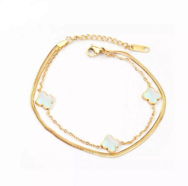 Clover Charm bracelet gold