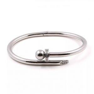 diamond spike bracelet silver