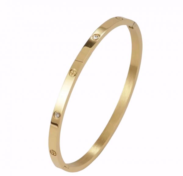 tiny love bracelet gold