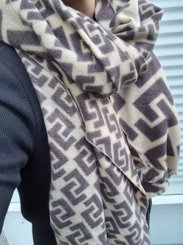 sjaal aztec beige