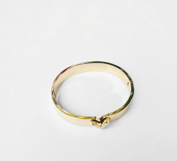 v bracelet gold