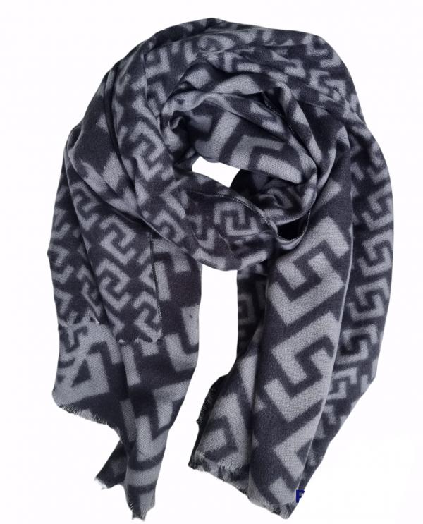 sjaal aztec grijs