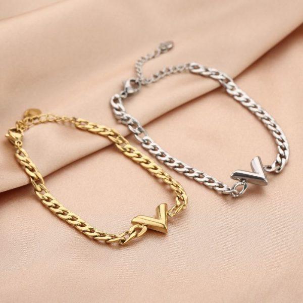 v chain bracelet
